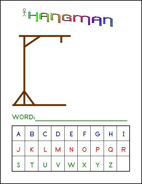 Hangman Game  X  Laminated Write And Wipe Game Board  Edu