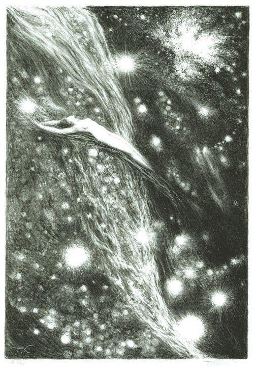 František Kobliha (Czech, 1877-1962) - Kosmická Vize (Cosmic Vision), 1945-1946  Lithographs / Embodied <3