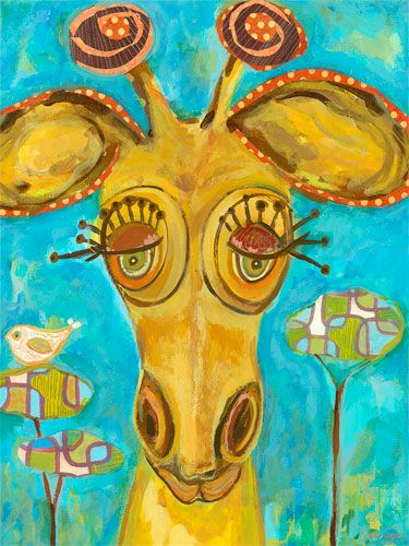 Doe-Eyed Giraffe Canvas Wall Art | Doe eyes, Giraffe and Eye