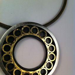 collar de plata i xapat d'or
