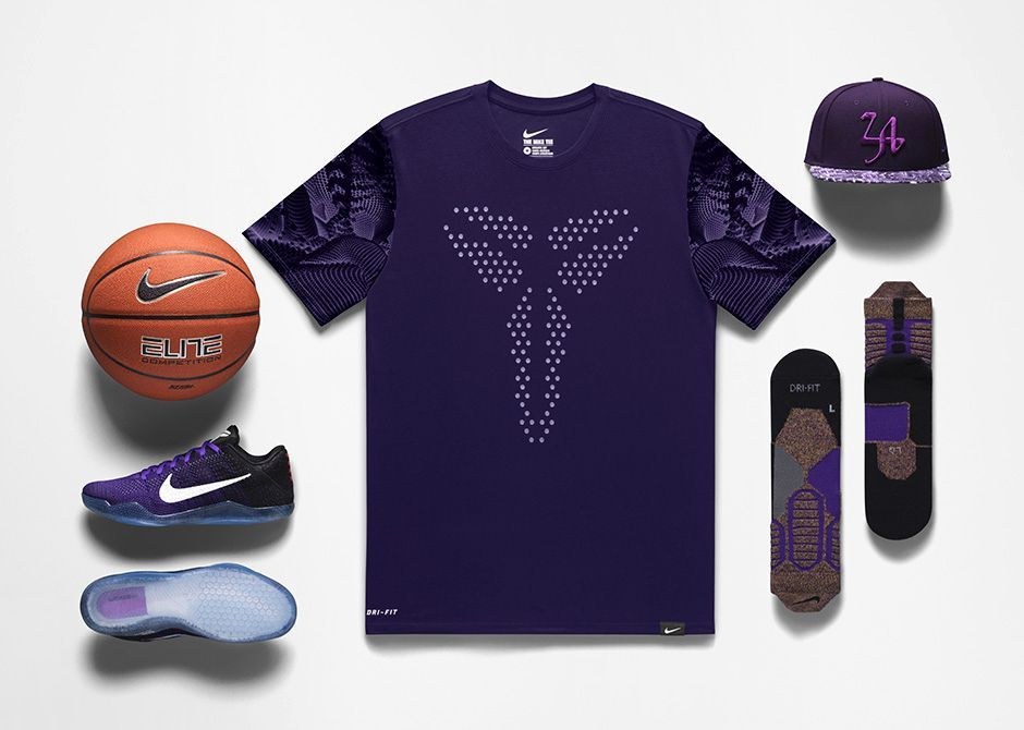 Official images and release date for the Nike Kobe XI Eulogy colorway (Hyper  Grape White-Black-University Gold) 95ab4da50