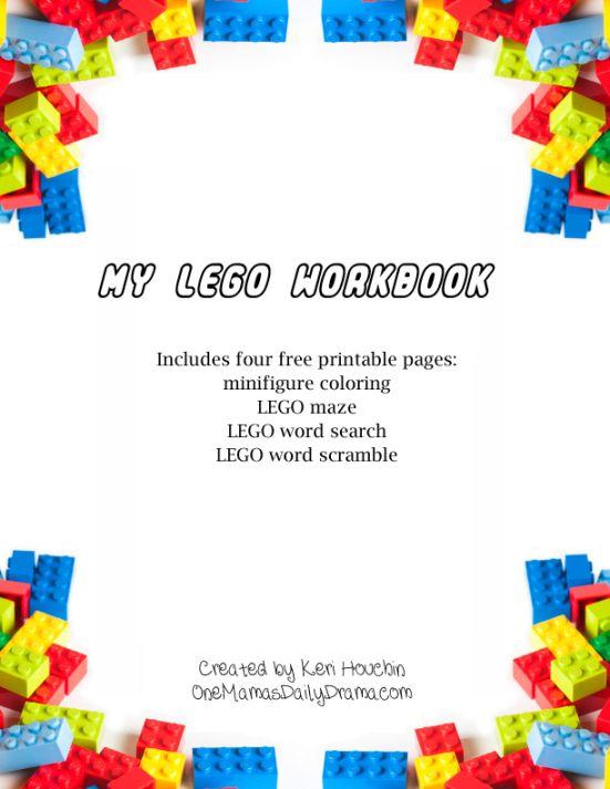 Free printable LEGO workbook - One Mama's Daily Drama