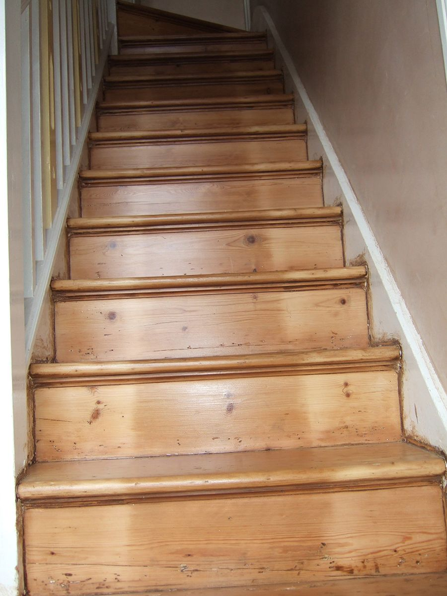 Best Victorian Wood Staircase Sanded And Lacquered House 640 x 480