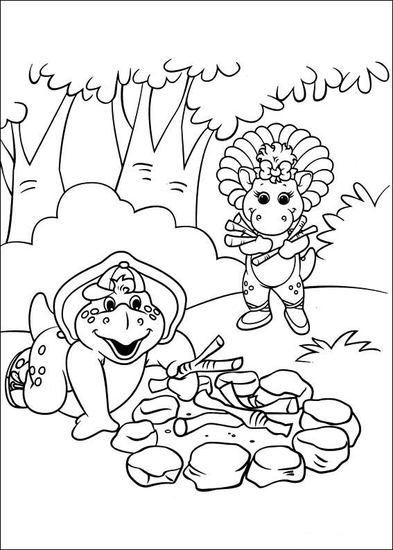 Barney and friends Coloring Pages 13 | Barney the Dinosaur & Friends ...