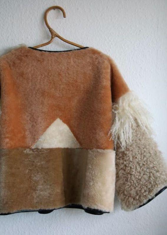 Milena Silvano fur shearing coat jacket 9
