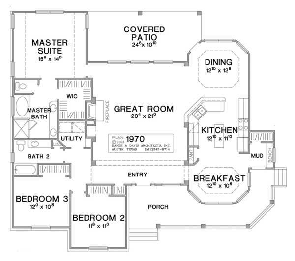 Country Style House Plan 3 Beds 2 Baths 1965 Sq Ft Plan 472 149