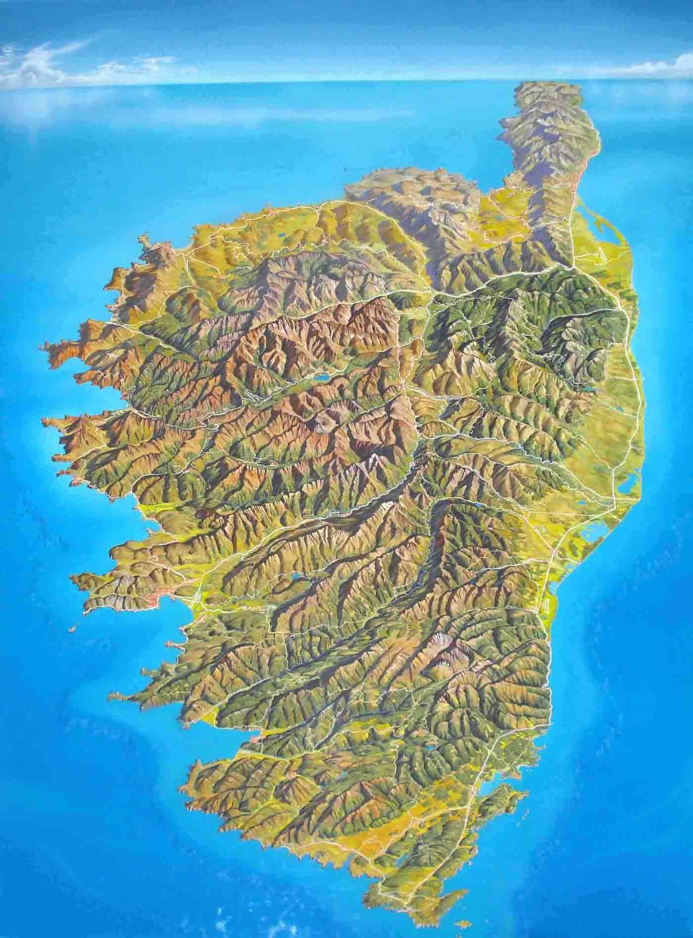 3d Map Of Corsica With Images Map Panoramic Map Historical Maps