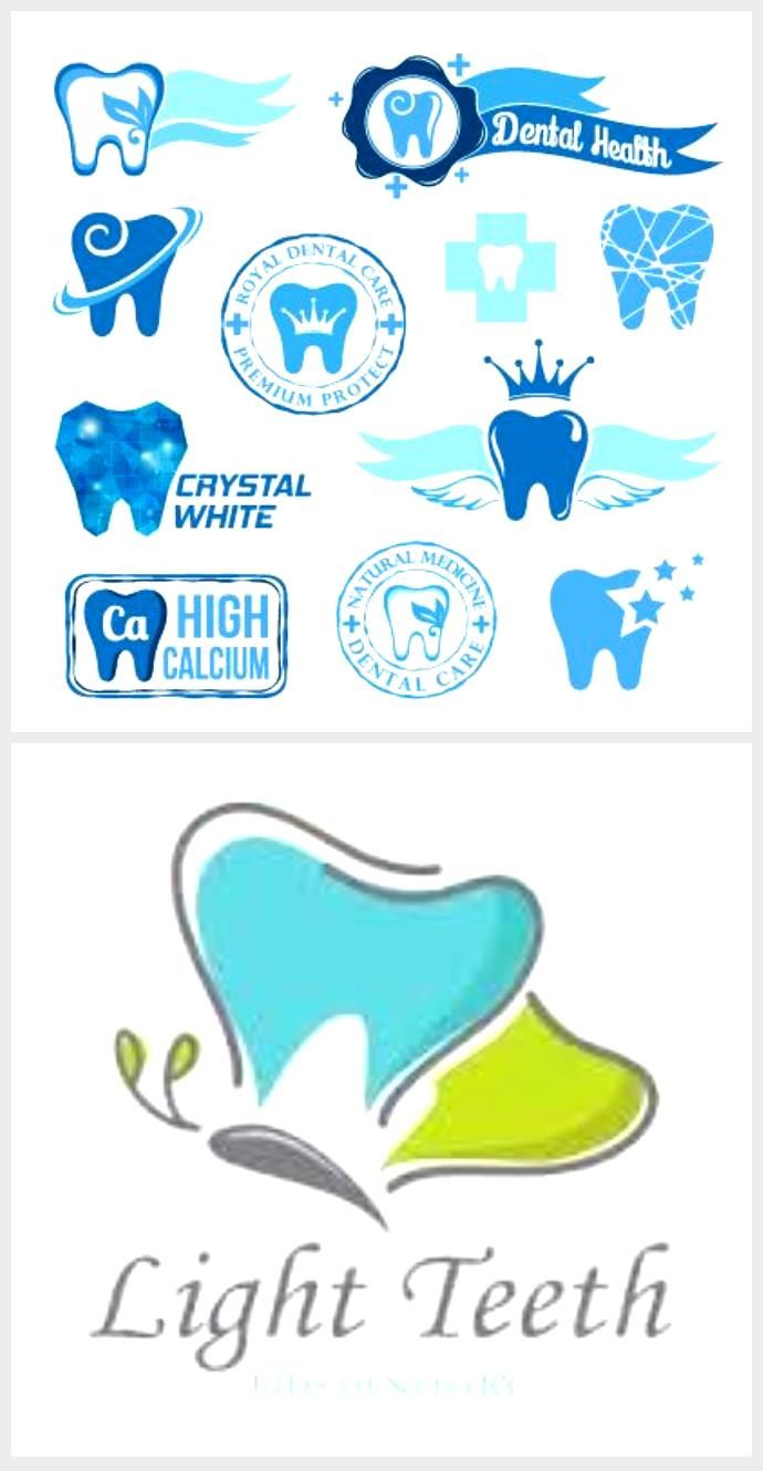 Classic dental logos and stickers vector graphics 02 #dentallogo