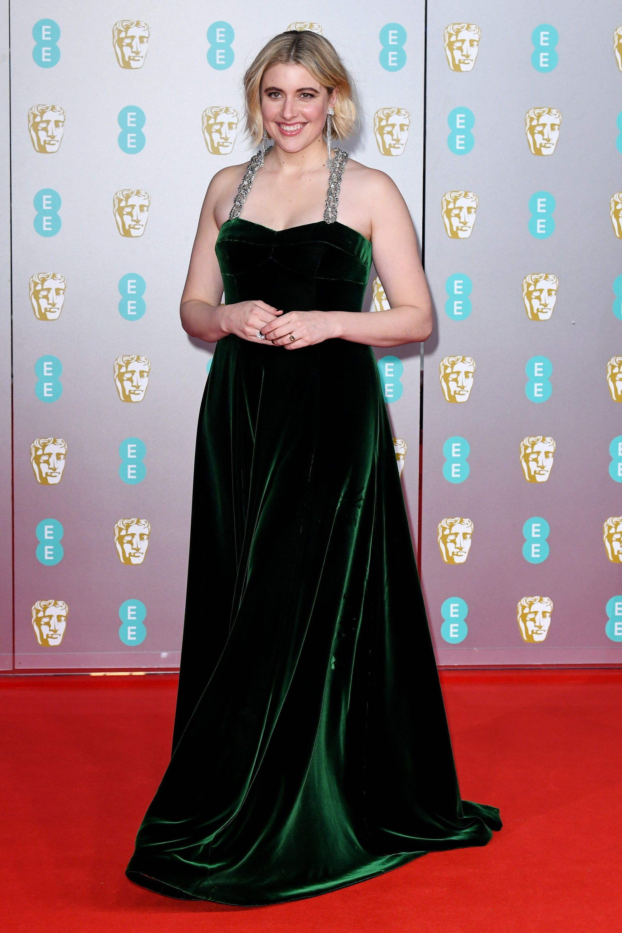 The Baftas Red Carpet Was Full Of Big Bright Colors In 2020 With Images Bafta Red Carpet Nice Dresses