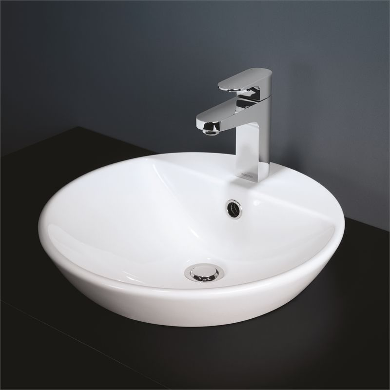 Caroma White Orbis 1TH Above Counter Inset Basin in 2020 ...