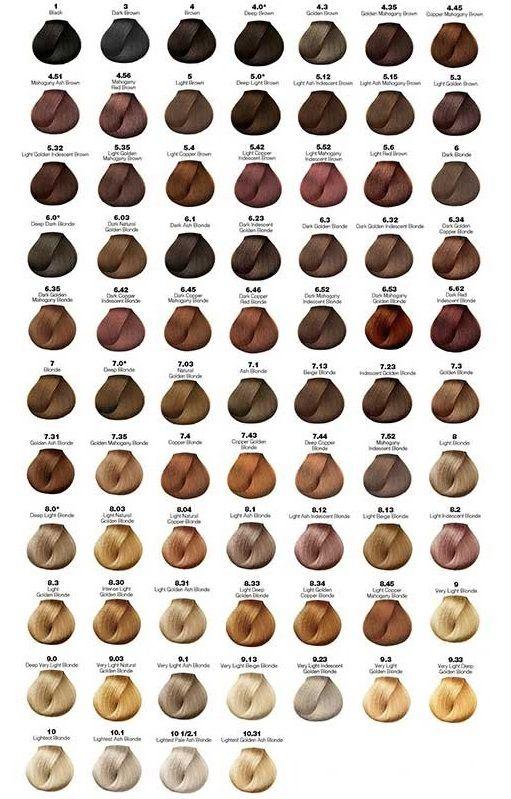 Majirel Chart Hair Color Chart Loreal Hair Color Chart Brown Hair Color Chart