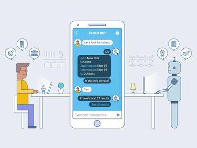 Chatbots Illustration Finished Chatbot Design Chatbot Ux Process