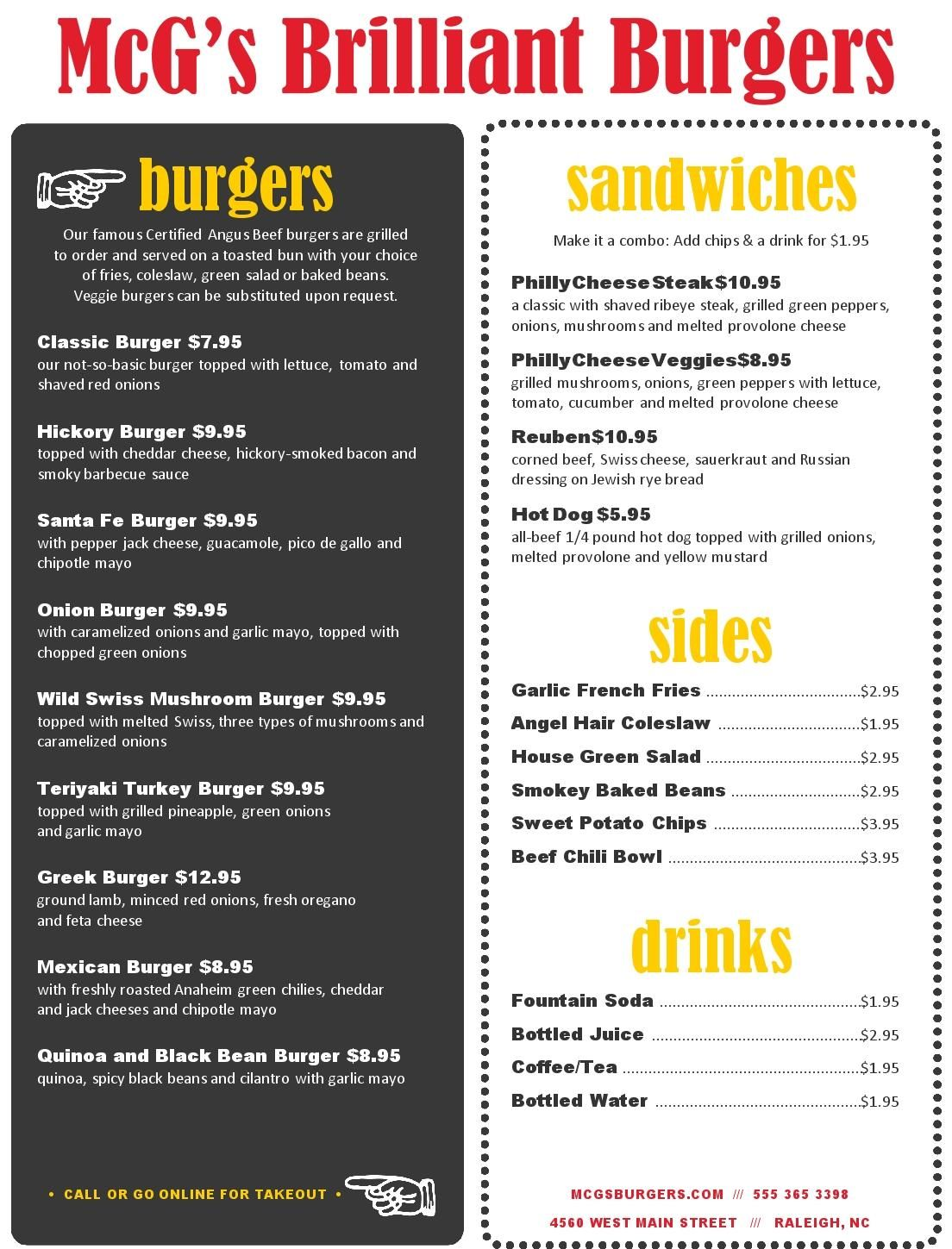 Attrayant Backyard Burger Menu   MustHaveMenus