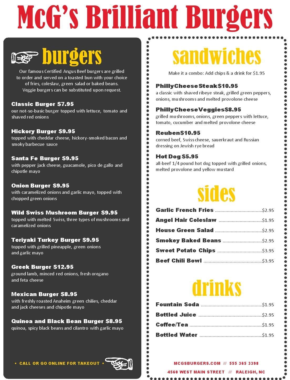backyard burger burger menu restaurant ideas burgers backyards foods
