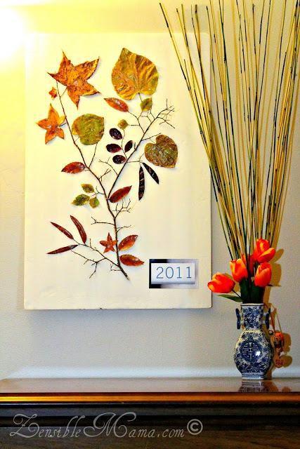 DIY Fall Leaf and Tree Branch 3D Wall Art Poster DIY Fall Decor DIY ...