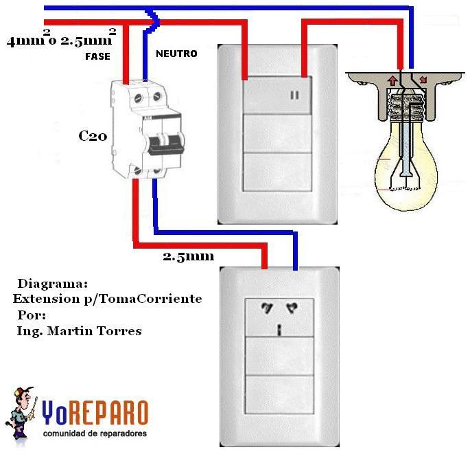 Como hacer una instalacion electrica basica buscar con for Como poner una llave de regadera
