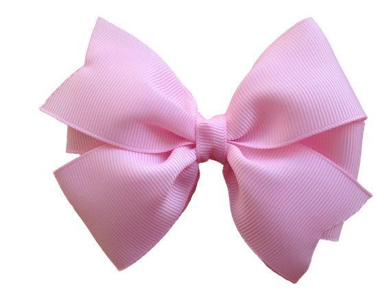 Light Pink Hair Bow Hair Bow Hair Bows Hair Bows For Etsy In 2021 Pink Hair Bows Light Pink Hair Toddler Hair Bows