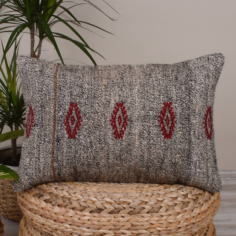 Cottage Decor Kilim Lumbar Pillow Cover