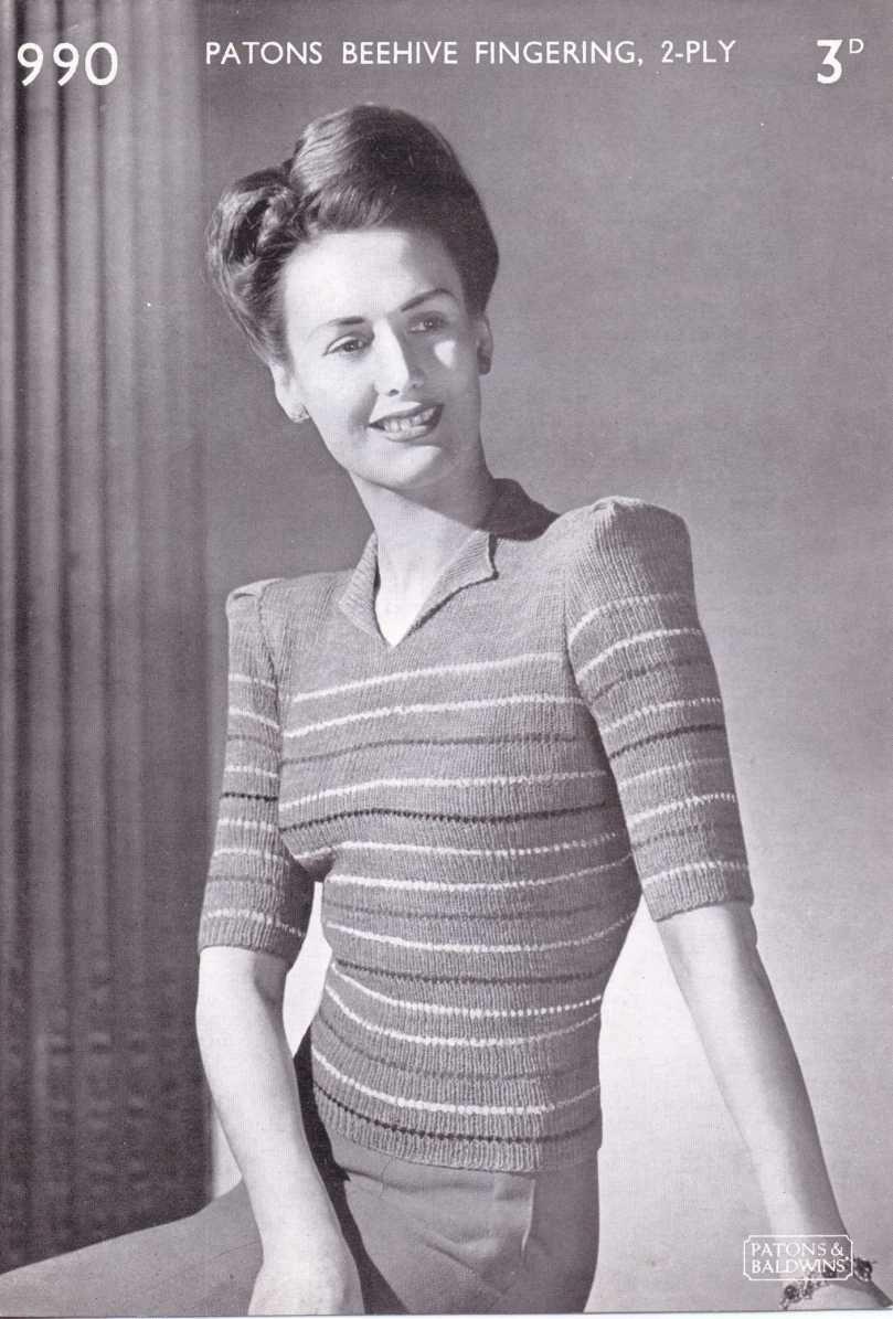 stripe jumper free knitting pattern | vintage | Pinterest | Ayer