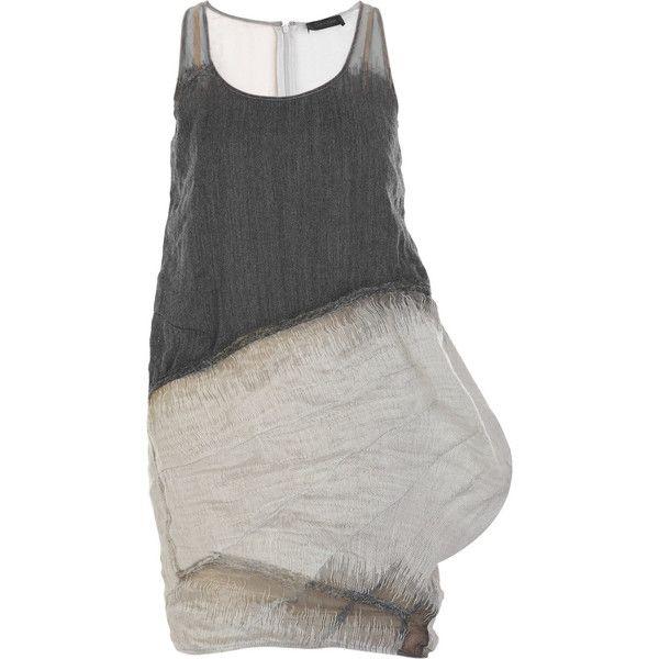 Sleeveless wool-blend dress ($1,617) ❤ liked on Polyvore