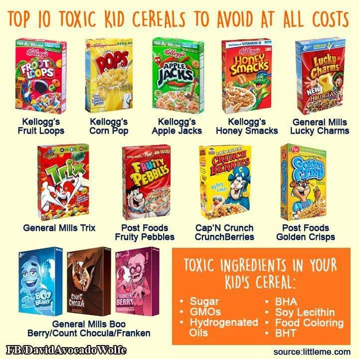 10 Most Toxic Cereals- I Will Miss Fruit Loops. Thats The