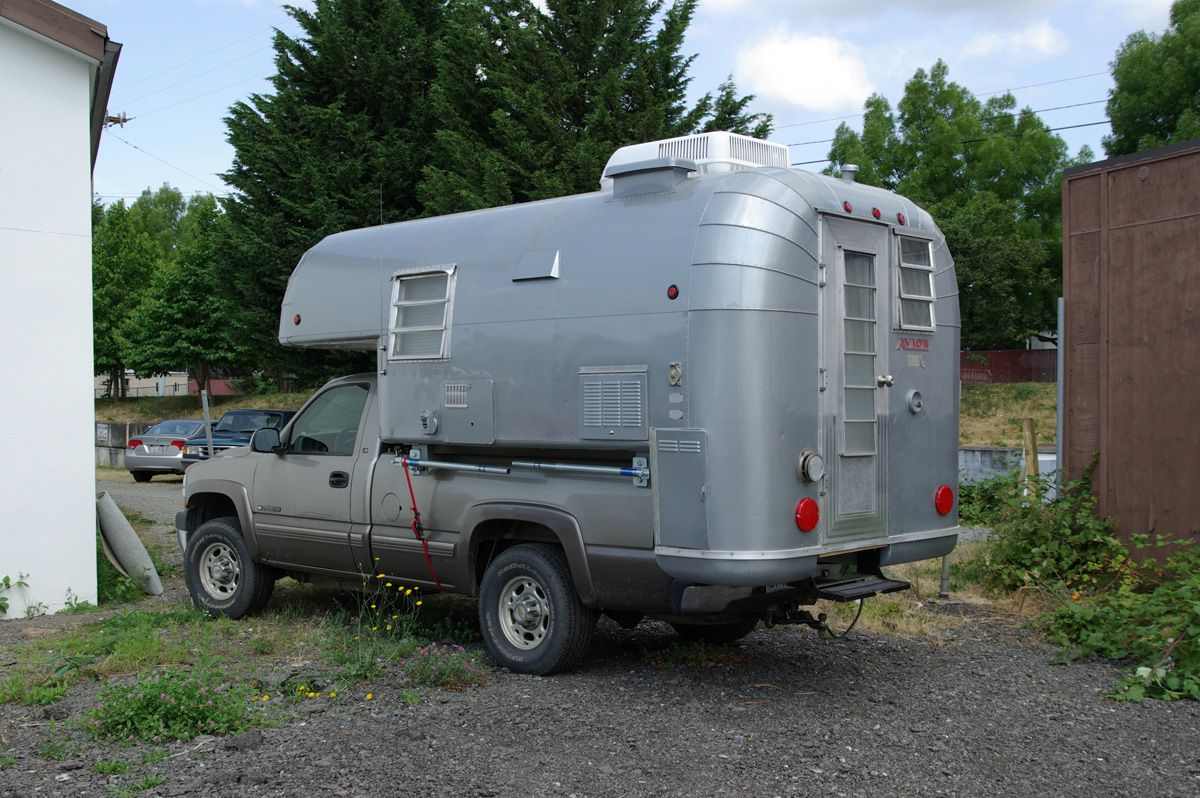 Titan Mobile Home Floor Plans Avion Cab Over Slide Camper Mounted To A Chevrolet Pickup