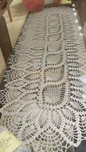 Passadeira Pisos Y Centros De Mesa Crochet Pinterest