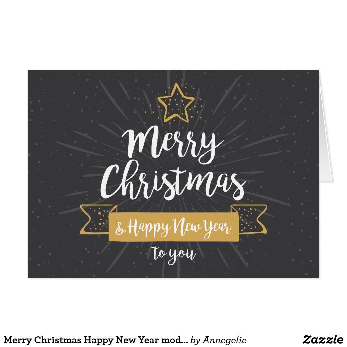 Merry Christmas Happy New Year Modern Handwritten Holiday Card Zazzle Com Merry Christmas Quotes Christmas Quotes Merry Christmas Quotes Christian