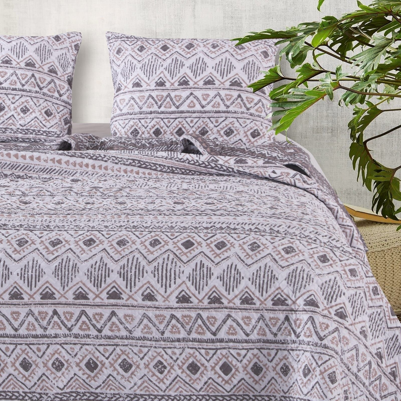Off//Off//White Full//Queen Bedding Bedspread Set Barefoot Bungalow Willow Quilt