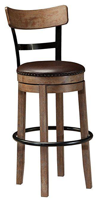Ashley Furniture Signature Design - Pinnadel Swivel Bar Stool - Pub ...