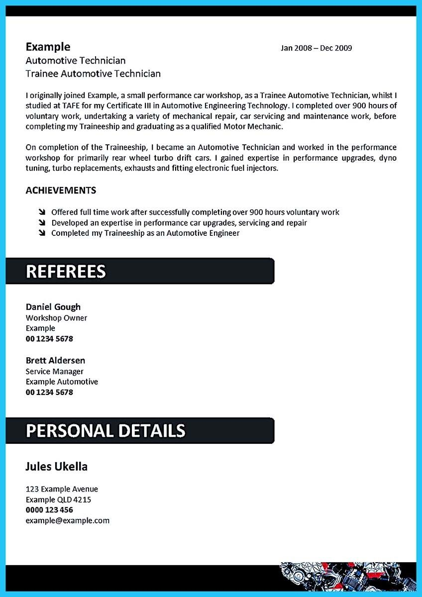 Auto Tech Resume Unique Cool Writing A Concise Auto Technician Resume Check More At Http .