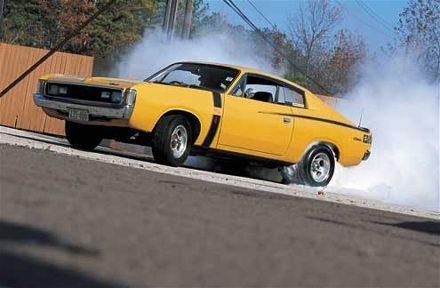 Vh Charger Burnout With Images Classic Cars Muscle Australian