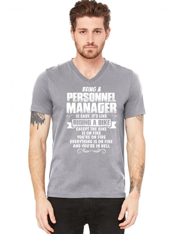 being a personnel manager V-Neck Tee