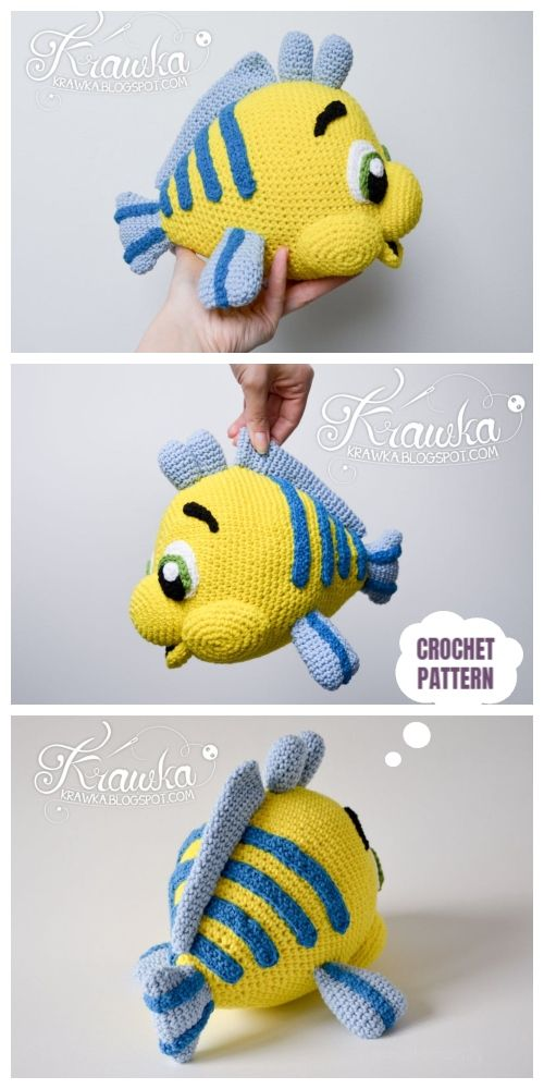 Crochet Flounder Fish Amigurumi Patterns #amigurumipattern
