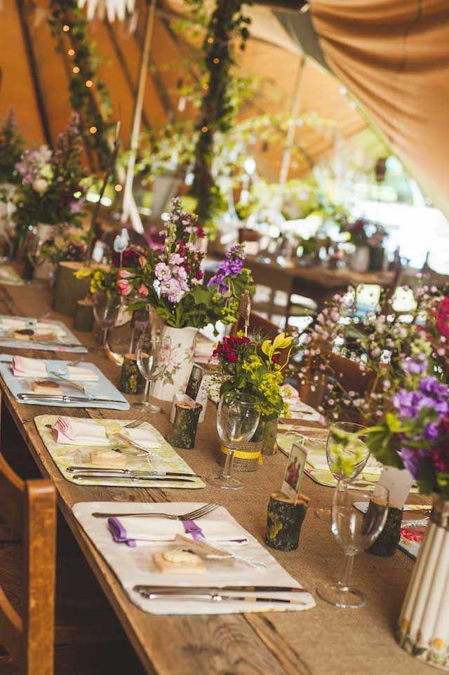 Centros de mesa para boda en fant stico estilo r stico - Centro de mesa rustico ...