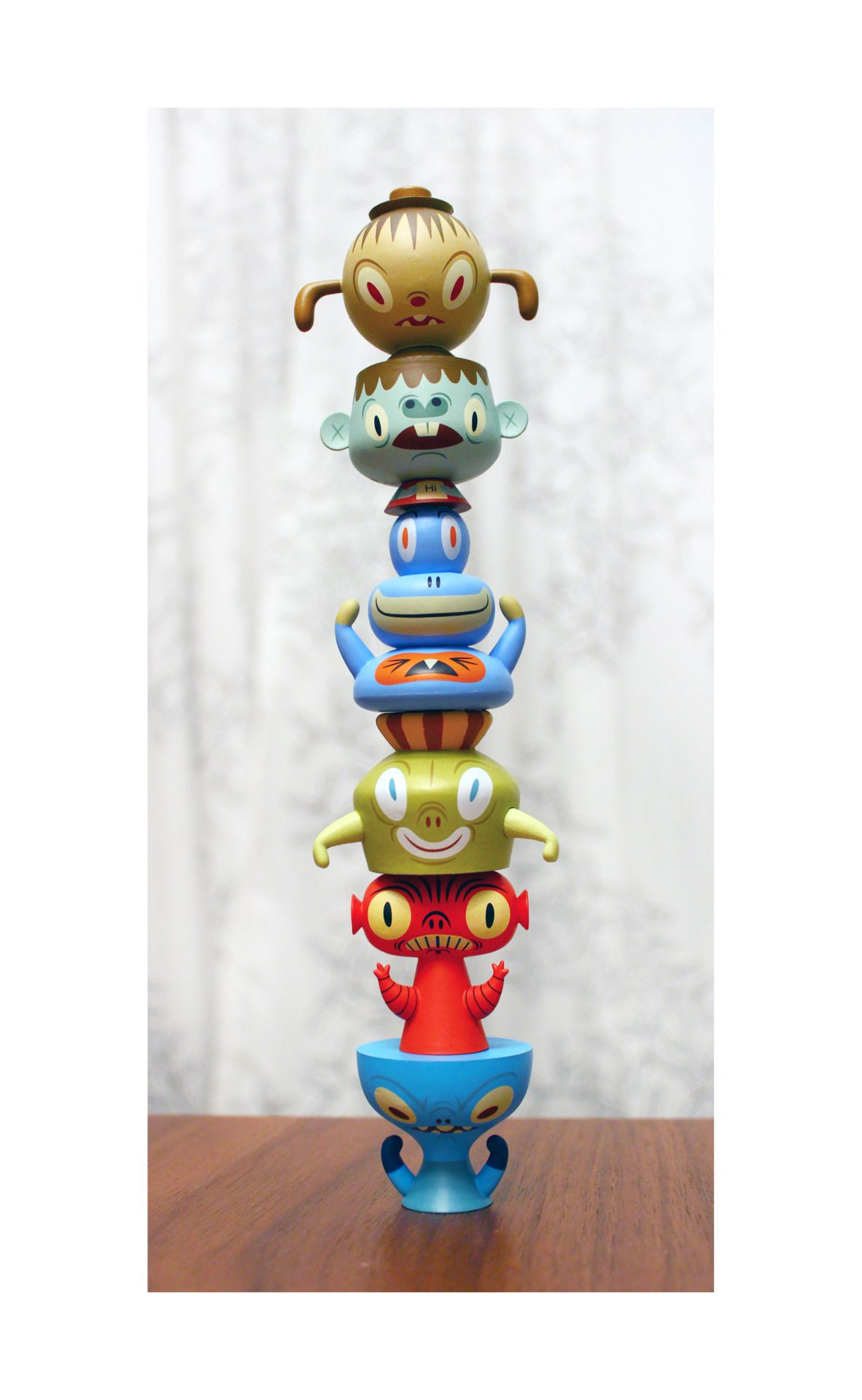 Baby toys images cartoon  Stack Pack figure by Tim Biskup  Tim oubrien