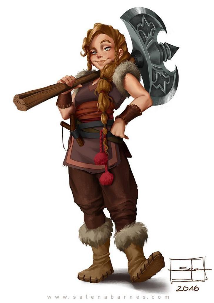Female Gnome: Halfling Gnome Dwarf Female