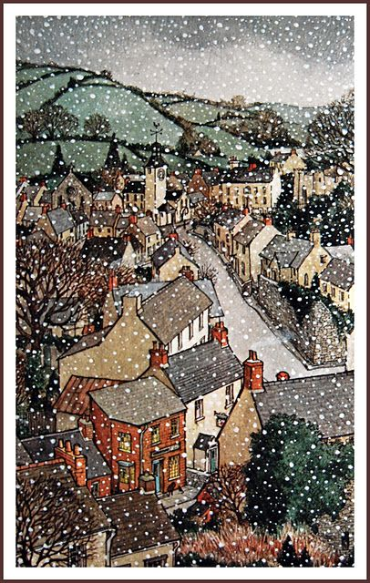 trina schart hymans illustration of a childs christmas in wales by dylan thomas