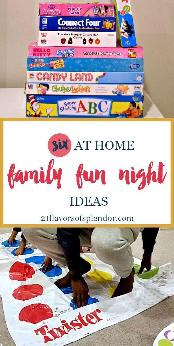 Six At Home Family Fun Night Ideas