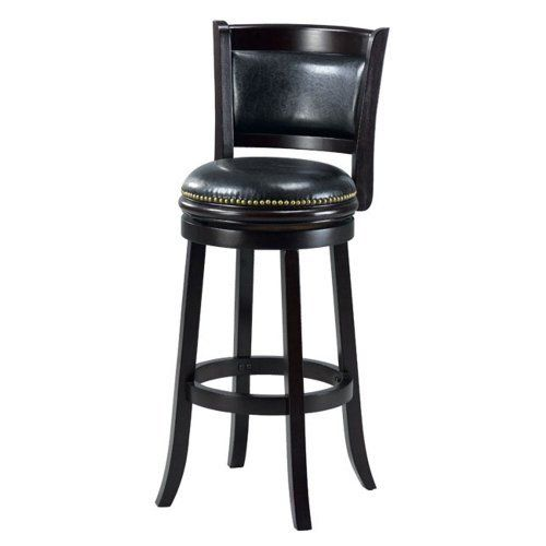 Mintra Cappuccino Finish Padded Back 29 Inch Barstool By Mintra