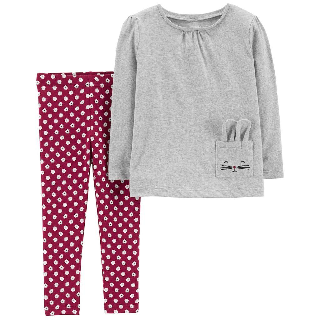a012cc81e8465 Toddler Girl Carter's Bunny Top & Floral Leggings Set   Products ...