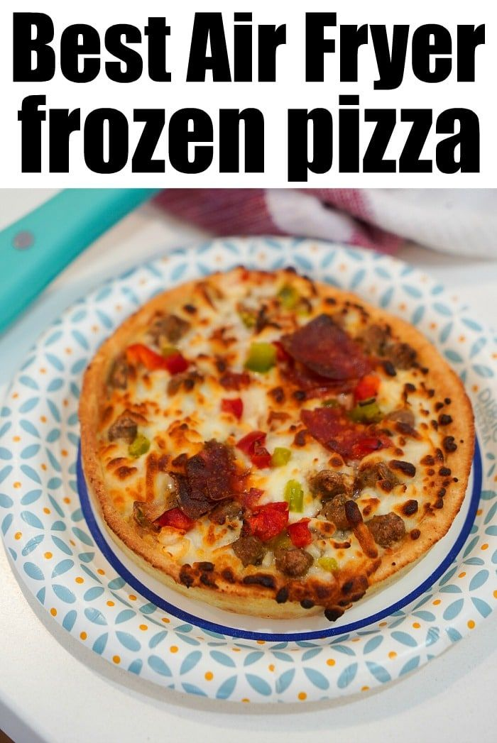 Frozen pizza in air fryer or Ninja Foodi works great