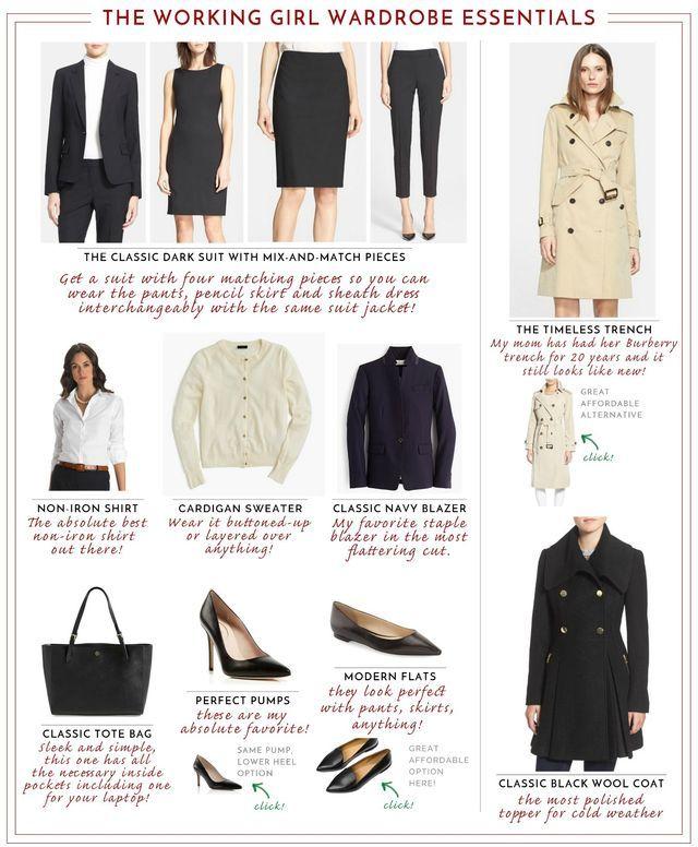 Working Girl Wardrobe Essentials (MEMORANDUM) Girls wardrobe - memorandum
