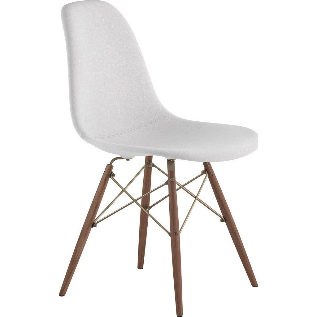 Nyekoncept mid century dowel side chair glacier whitewalnut