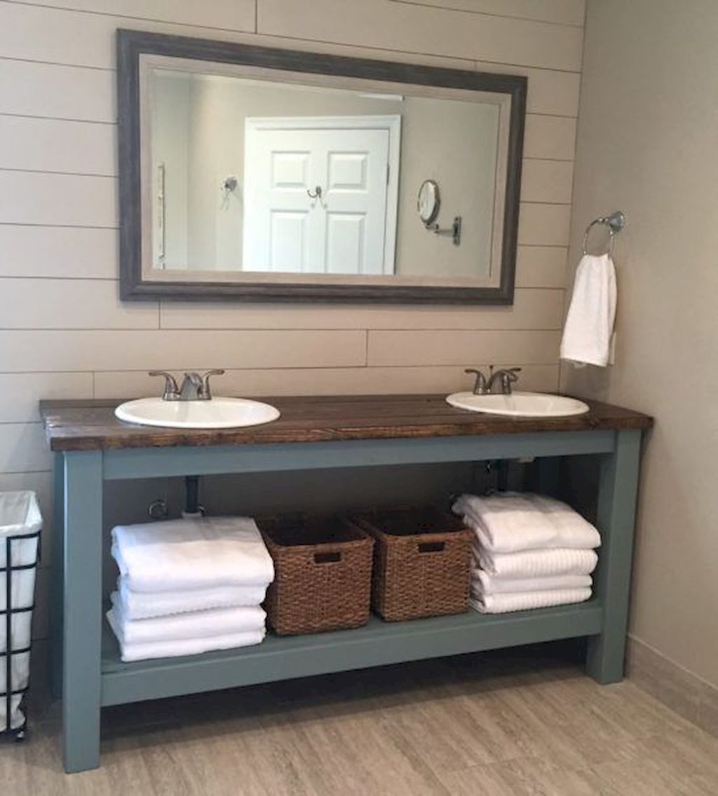 125 Stunning Farmhouse Bathroom Vanity Decor Ideas Bathroomvanitydecor Stil Badezimmer Badezimmer Design Badezimmer
