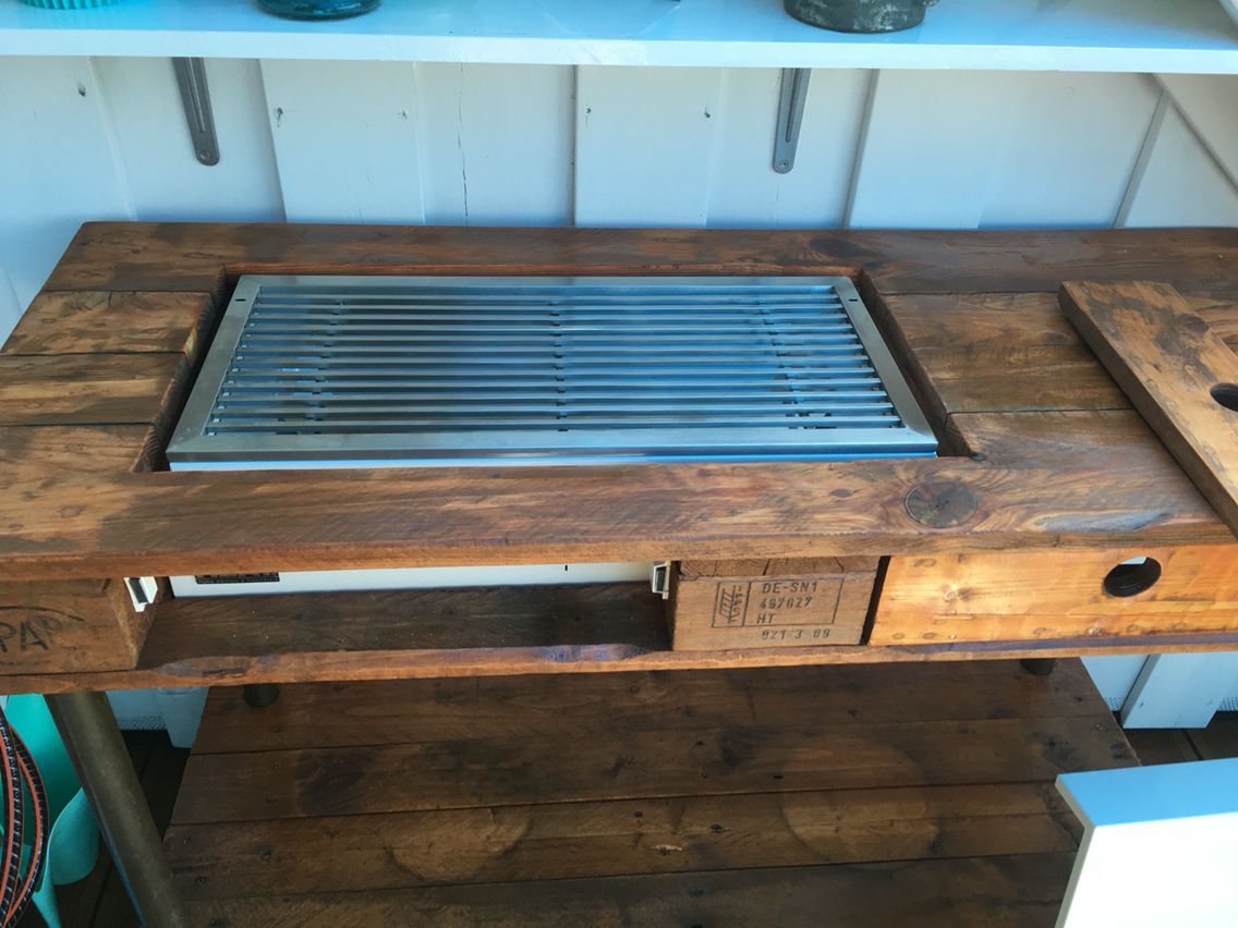 Billig Bord Gasgrill : Gasgrill eigenbau pallettensideboard outdoor küche pinterest