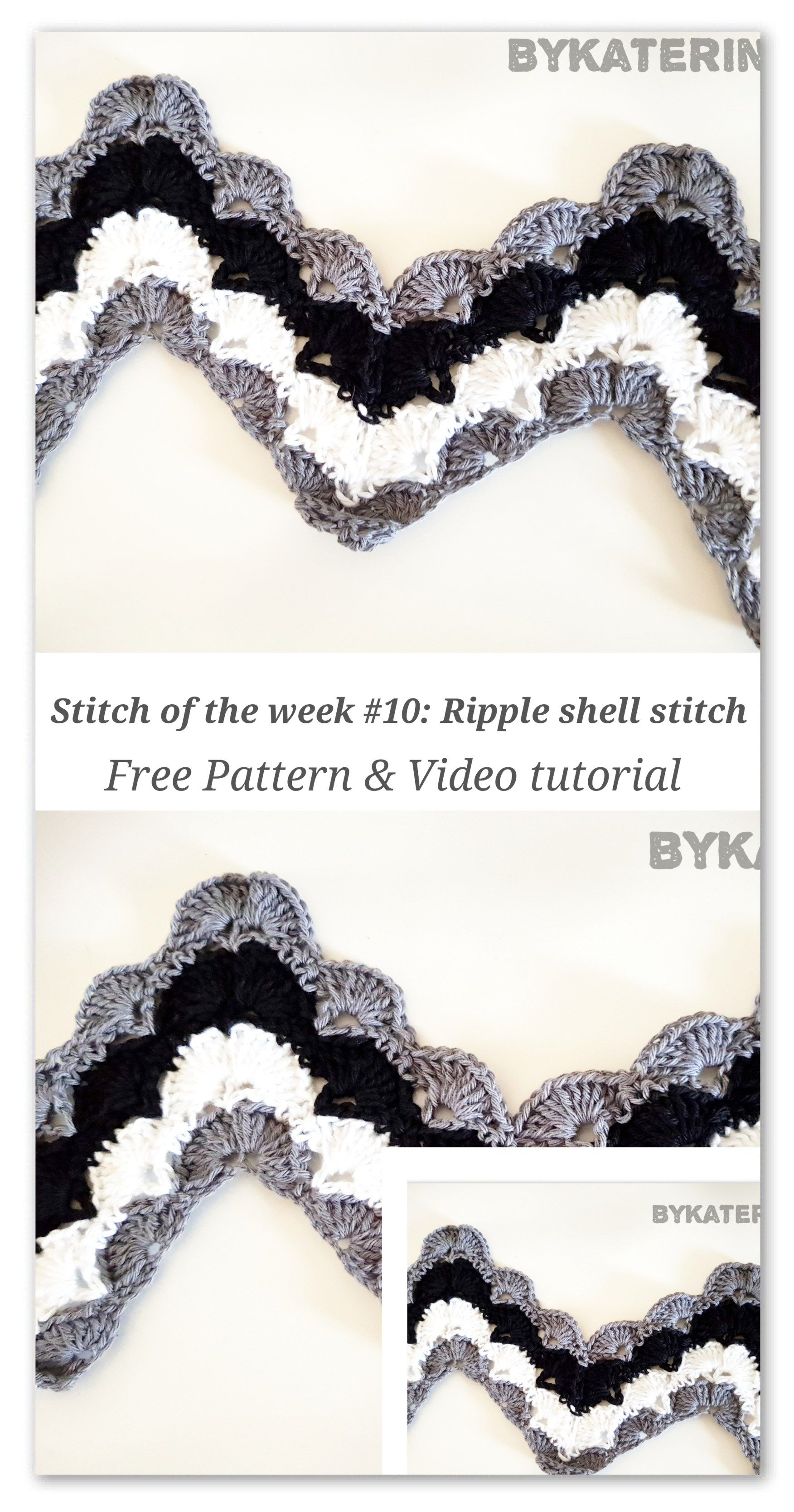 Stitch of the week #10: Ripple shell stitch | crochet | Pinterest ...