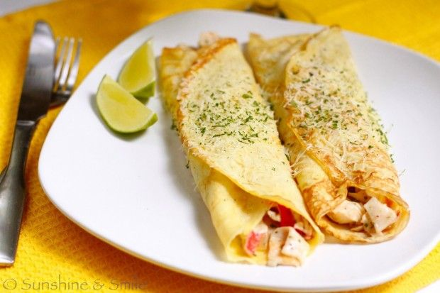 Crepe with Crab Meat Stuffing