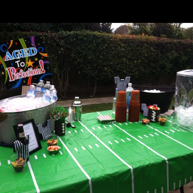 50th birthday/Superbowl Party Bar