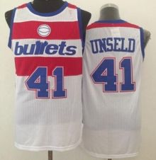 washington wizards 41 wes unseld white bullets throwback stitched nba jersey wholesale cheap